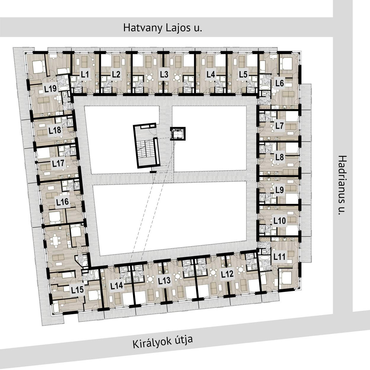 Római Residence 3. emelet